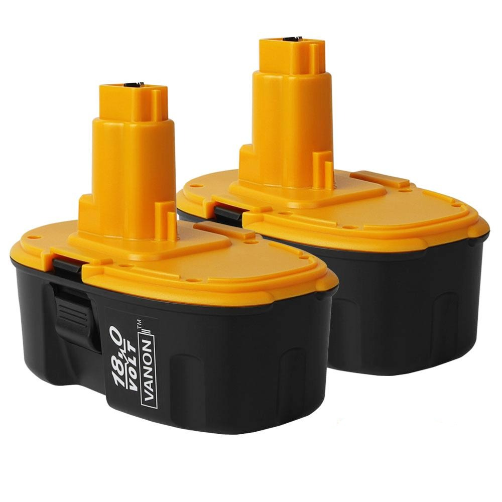 2 Pack For Dewalt 18V Battery 4.0Ah Ni-Mh Replacement | High Capacity | New Upgraded | Black and Yellow