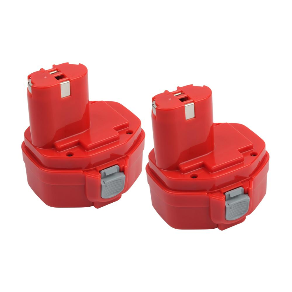 2x For Makita 14.4V 1420 Battery Replacement | 2.0Ah Ni-CD Battery - Vanonbattery