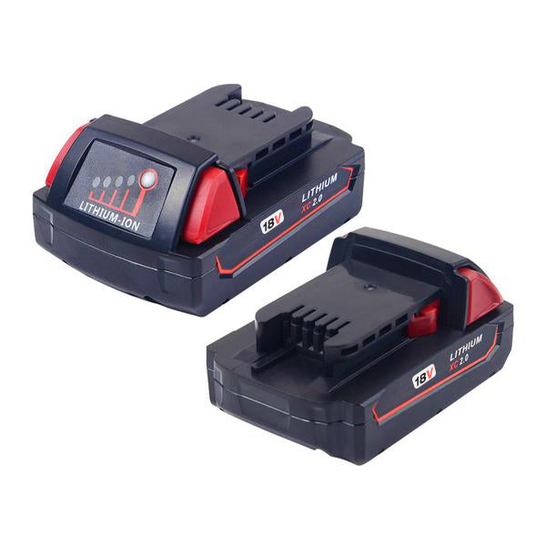 For Milwaukee 18V 2.0Ah Battery Replacement Li-Ion 2 Pack