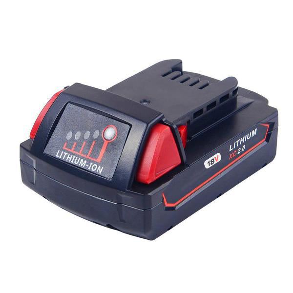 For Milwaukee 18V Battery Replacement | 2.0Ah Li-Ion Battery