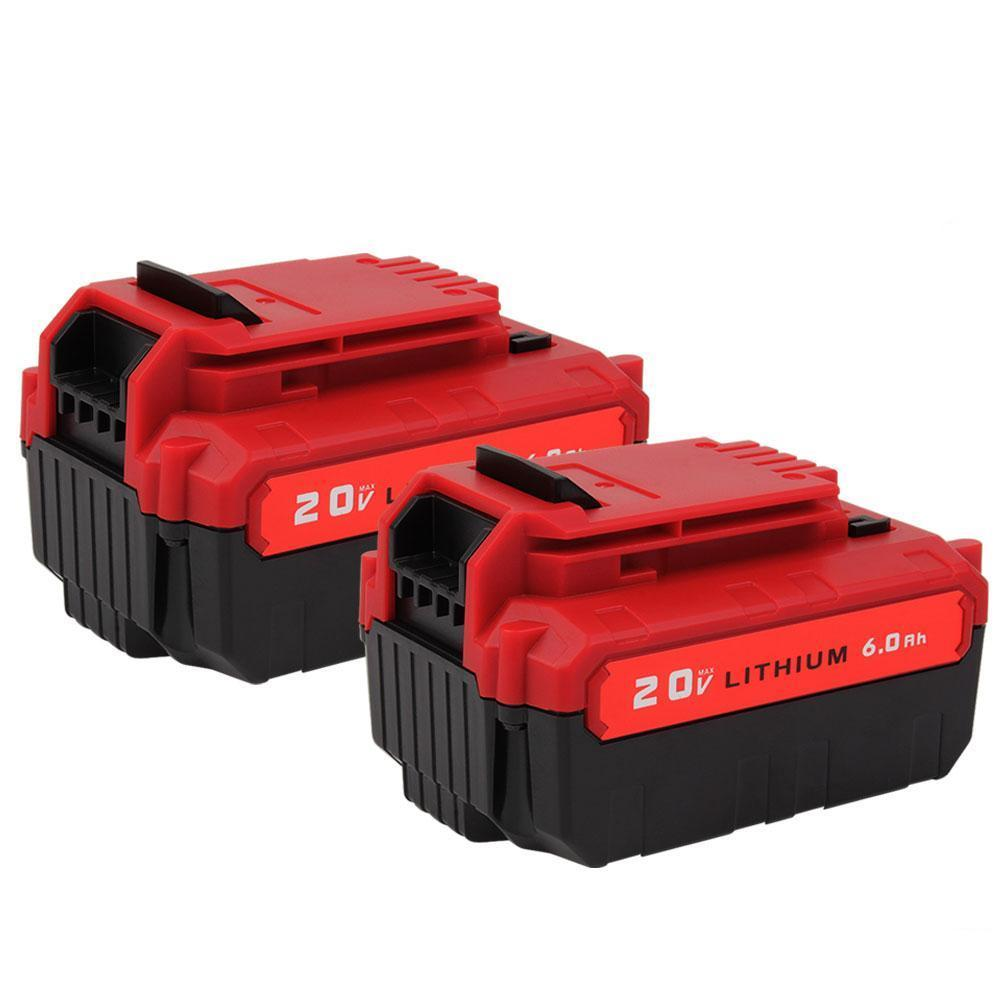 For Porter Cable 20V Battery Replacement | PCC685L 6.0Ah Li-ion Battery 2 Pack - Vanonbattery