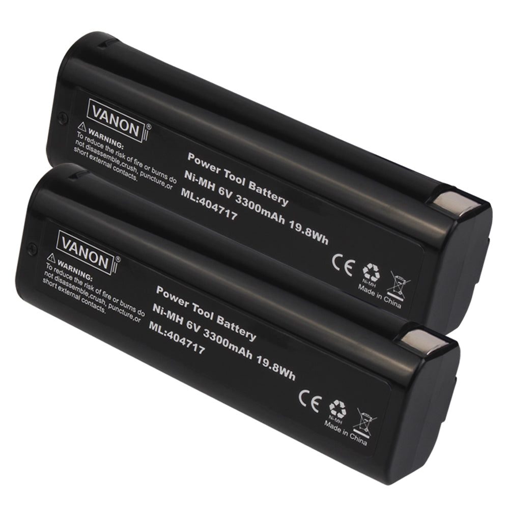 Paslode 6V Battery Replacement | 404717 3.5Ah Ni-MH Battery | two
