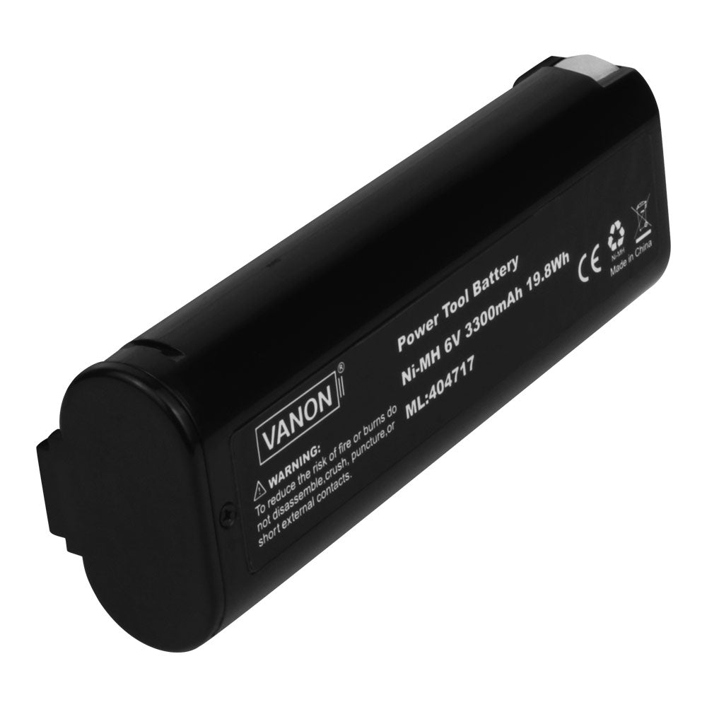 Paslode 6V Battery Replacement | 404717 3.5Ah Ni-MH Battery | back