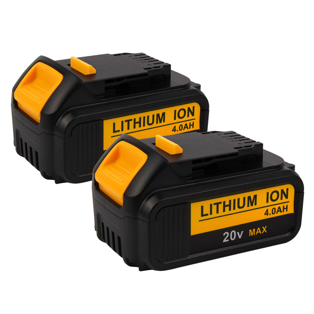 For Dewalt 20V Battery Replacement | DCB200 4.0Ah Lithium Ion Battery 2 Pack