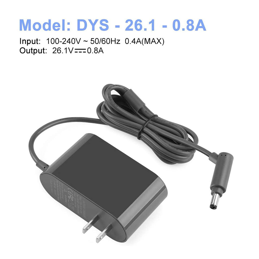 Replacement Charger for Dyson AC Adapter Dyson 21.6V Battery V6 V7 V8 DC58 DC59 DC61 DC62 SV03 SV04 SV05 SV06 Model# 205720-02 Dyson Charger for Dyson Cordless Vacuum Cleaner