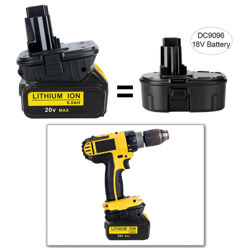 For DeWalt DCA1820 18V to 20V Battery Adaptor | Battery Converter 2 Pack