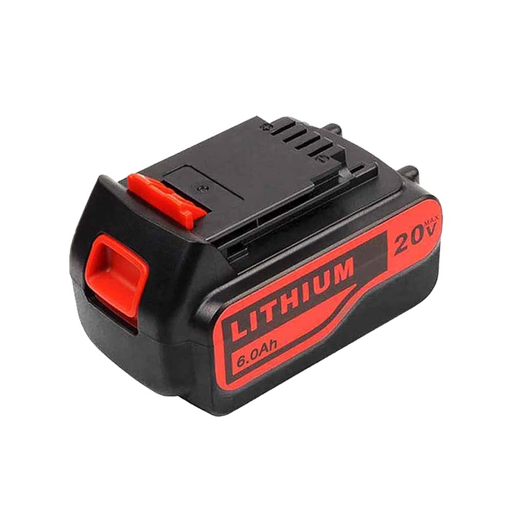 Black and Decker LB2X4020 20V 6.0Ah Battery | LBXR20-OPE LBXR20 LBX20 Lithium Battery | back
