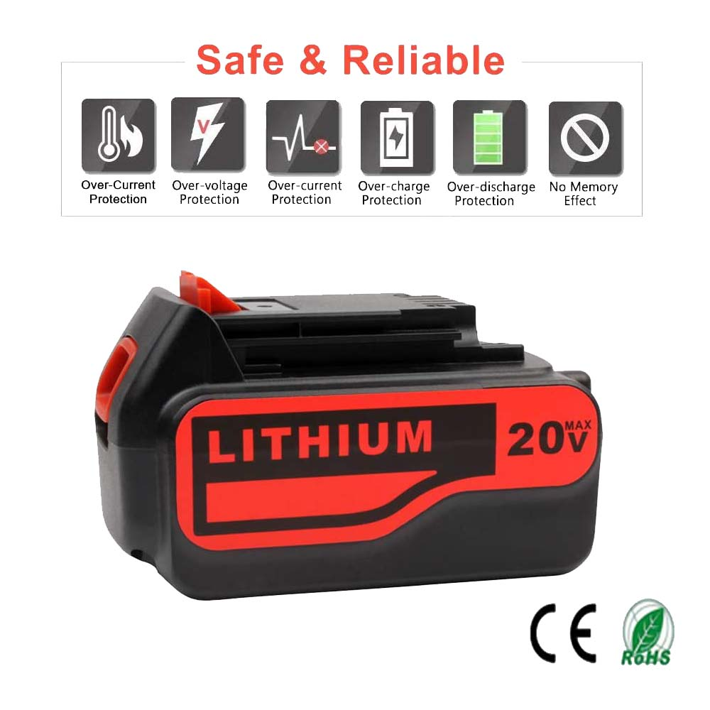 Black and Decker LB2X4020 20V 6.0Ah Battery | LBXR20-OPE LBXR20 LBX20 Lithium Battery | detail