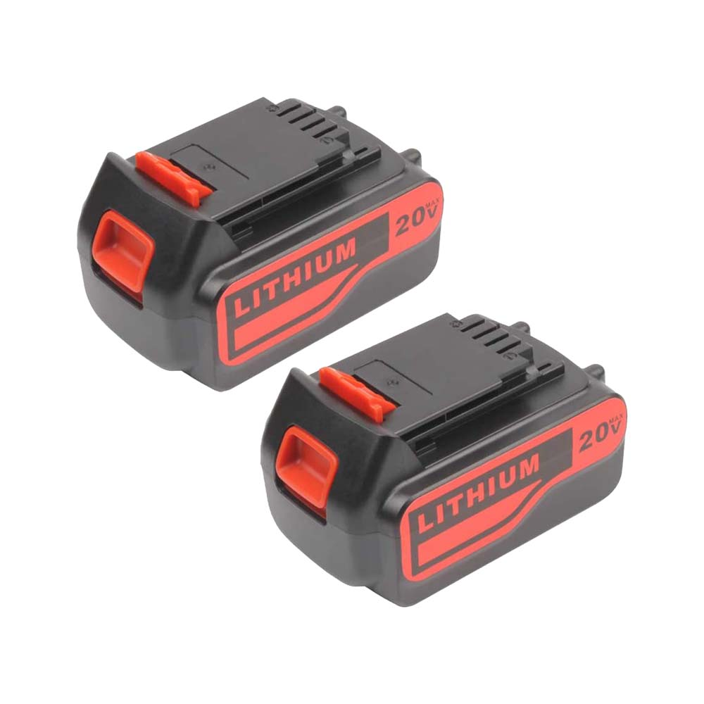 Black and Decker LB2X4020 20V 6.0Ah Battery | LBXR20-OPE LBXR20 LBX20 Lithium Battery | two