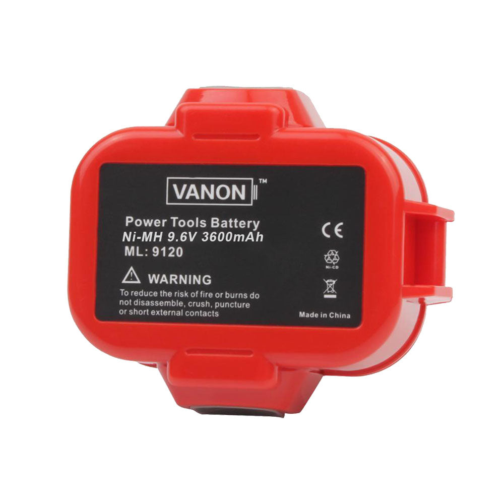 For Makita 9.6V Battery Replacement | 9120 3.6Ah Ni-MH Battery