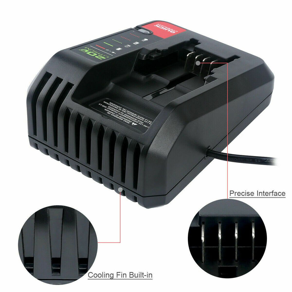 Porter Cable 20V Battery Fast Charger PCC692L | 2A Output |