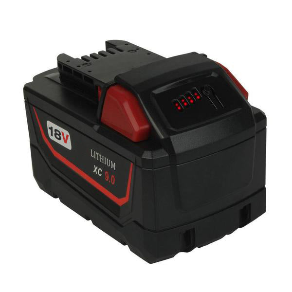 Milwaukee M18 18V XC 9.0Ah Battery Replacement Li-Ion | front