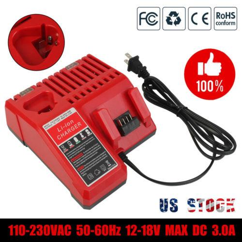 For Milwaukee Battery Charger |  M18 Charger Replacement | 12V and 18V Rapid Charger