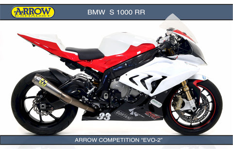 Arrow Exhaust For Bmw S1000rr Competition Evo And Evo 2 Full Systems