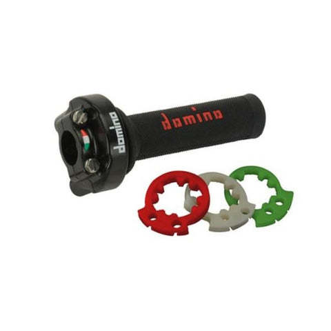 Domino XM2 Racing Adjustable Throttle, Black Housing for 15+ Yamaha YZF R3 (uses Oe cables) - Apex Racing Development