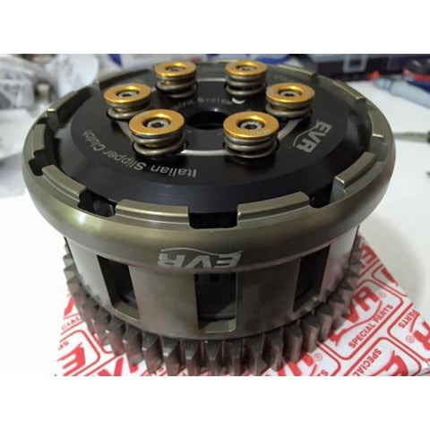 EVR Billet 12 tooth WSBK Clutch basket and Gear for FDU-WET2-1199 (EVR 1199 Wet clutch) - Apex Racing Development