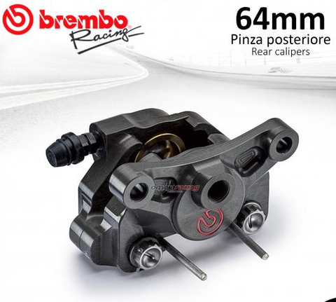 BREMBO RACING REAR BRAKE CALIPER WITH TITANIUM PISTONS CNC P2 24  64mm