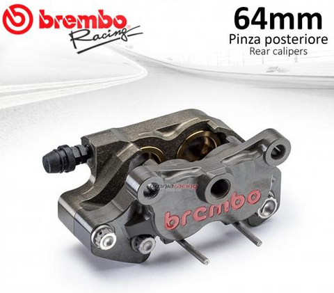 Brembo Racing rear brake caliper with titanium pistons CNC P4 24 wheelbase 64mm