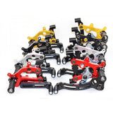 Ducabike Type 3 - TEAM ASPAR - Adjustable Rearsets For 1299/1199/959/899 Panigale with Fixed Foot pegs, Color: Black/Gold/Red/Silver - Apex Racing Development