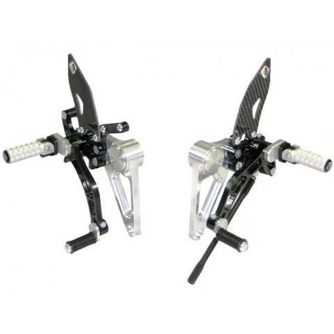 Adjustable Rearsets For Monster S2R / S4R / S4RS, Color: Black/x - Apex Racing Development