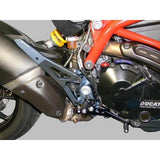 Adjustable Rearsets For Hypermotard 821/939 with Fixed Foot pegs, Color: Smoke/Black - Apex Racing Development