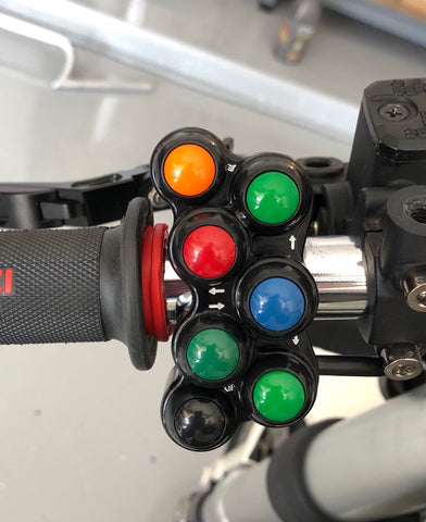 SEVEN BUTTON STREET SWITCH FOR DUCATI MONSTER, HM, SUPERBIKE PRE 2013 - Apex Racing Development
