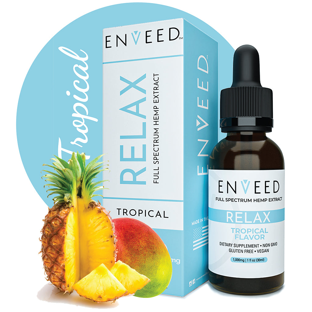 RELAX - CBD OIL TROPICAL TINCTURE