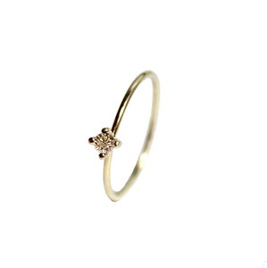 Pointy Ring Champagne Diamond