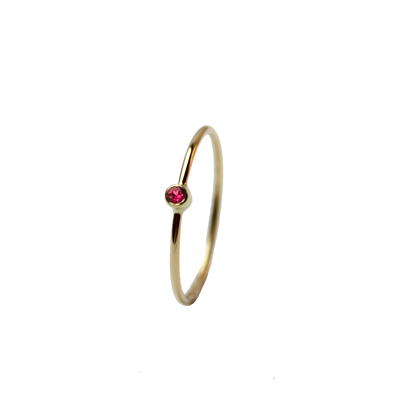 Tiny Sapphire Ring - Red