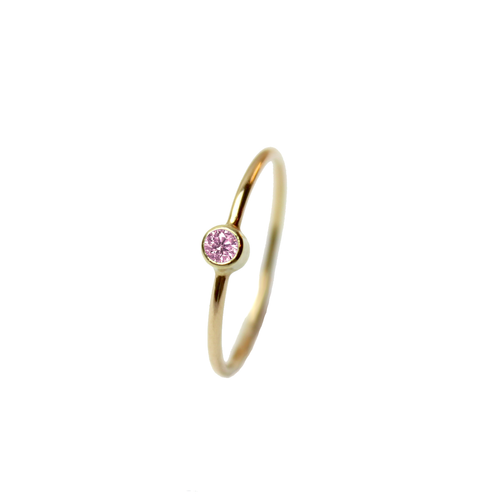 Big Sapphire Ring - Pink