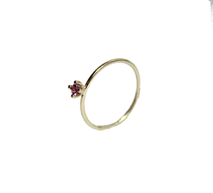 Pointy Ring Pink Sapphire