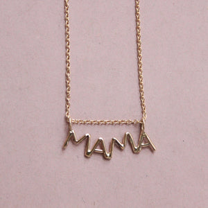 Lucky Letter MAMA Pendant