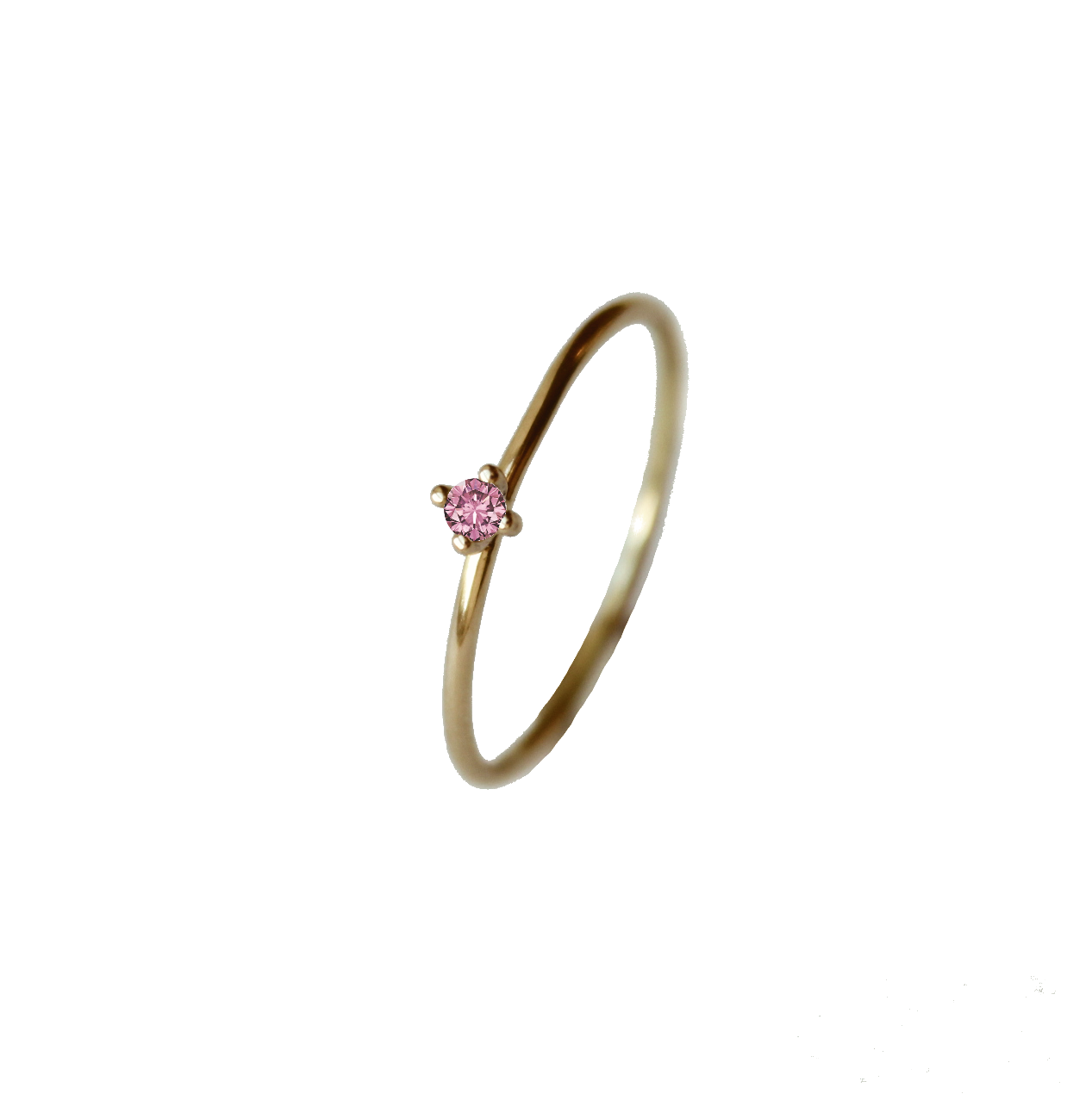 Tiny Pointy Ring - Pink Sapphire