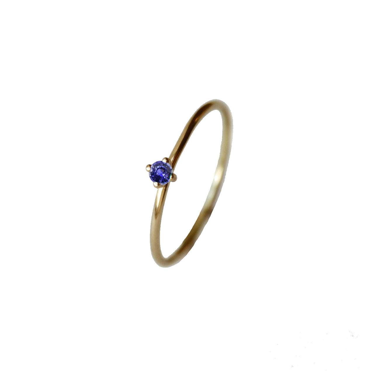 Tiny Pointy Ring - Blue sapphire