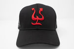 Pepe Hat - Black - Red Logo