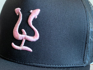 Pepe Aguilar Hat - Black with Pink Logo