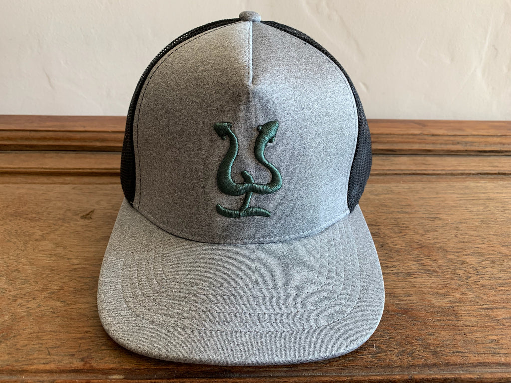 Pepe Hat Black/Gray - Green logo