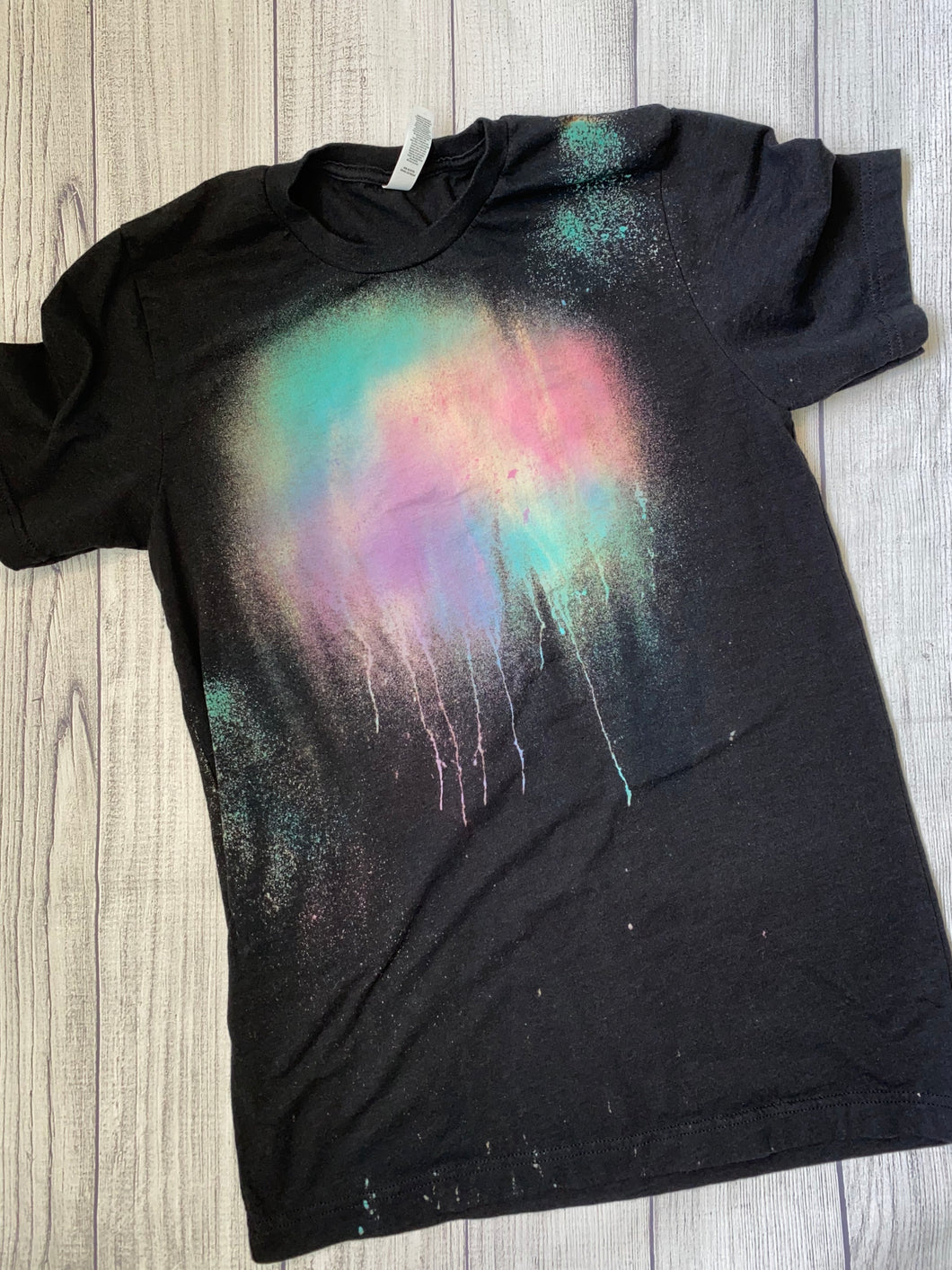 Medium black watercolor tee