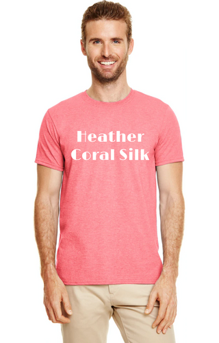 Gildan SoftStyle Tee Heather Coral Silk