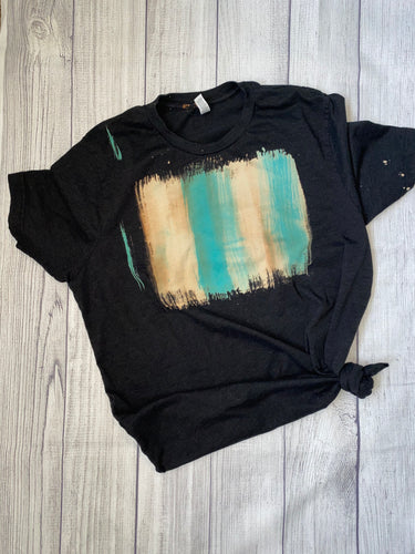 XL black watercolor tee