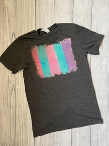 Small dark grey watercolor Tee