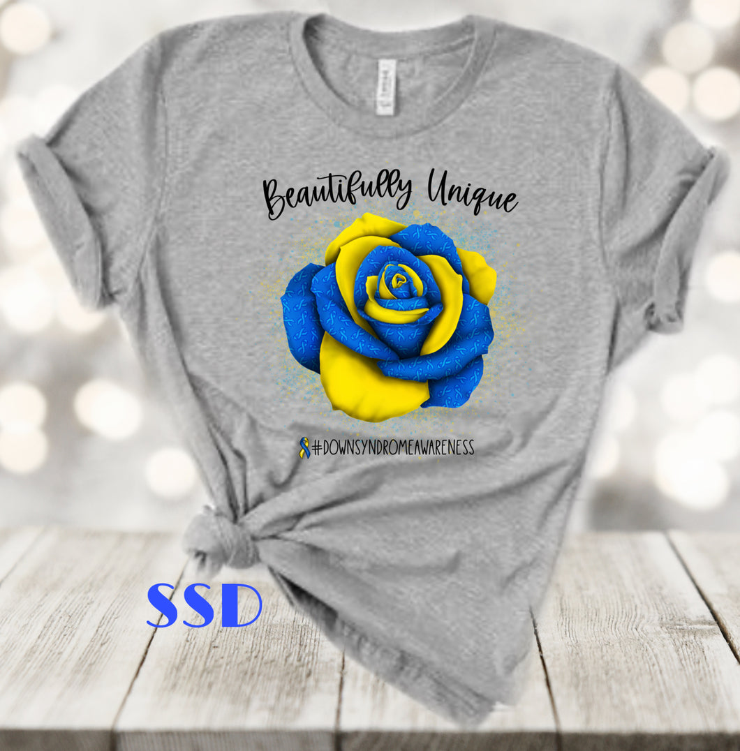 Down Syndrome Rose T-shirt