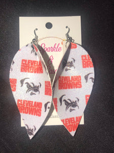 Sparkly Cleveland football Earrings