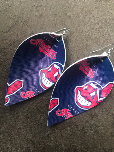 Cleveland baseball earrings
