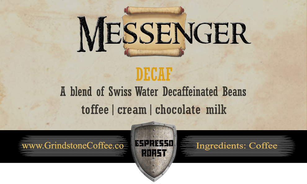 Messenger Decaf Espresso (Swiss Water Decaf Blend) - 12oz