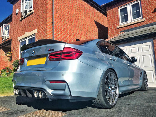 BMW M3 M4 F80 F82 F83 M Performance Carbon Rear Bumper Diffuser 3 Pieces Kit - 2MTechnics