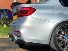 Load image into Gallery viewer, BMW M3 M4 F80 F82 F83 M Performance Carbon Rear Bumper Diffuser 3 Pieces Kit - 2MTechnics