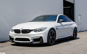 BMW M3 M4 F80 F82 F83 M Performance Front Spoiler Splitter Lip Carbon 3 Piece - 2MTechnics