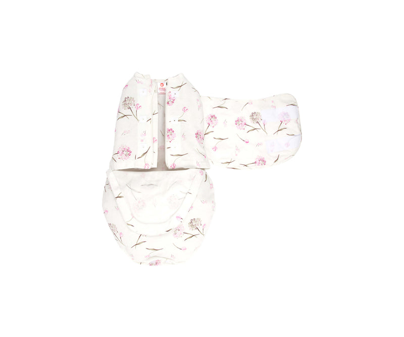 Headband and Starter Swaddle Bundle (Pink Clustered Flowers)