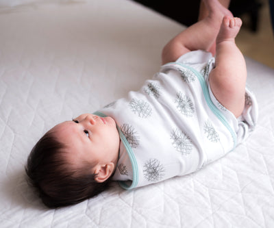 Luxe 2-Way Swaddle | Mint Hash